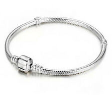 1/2/5Pcs Woman Chic Silver Plated Snake Chain Bracelet Bangle Charm Jewelry Gift