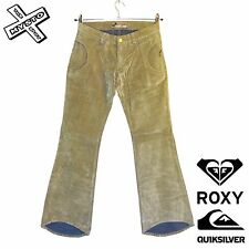 "QUIKSILVER ROXY 'SWEET SIXTEEN' TROUSERS BEIGE PLUSH ROXY 3 UK 10 30"" WAIST BNWT"