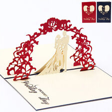 Greeting Cards 3D Pop Up Handmade Card Valentine's Day Wedding Lover Cards