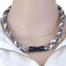 Cord Braided Titanium Baseball Sport Tornado Lonic Necklace 20 in