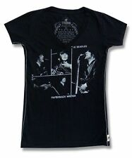 The Beatles Trunk LTD Paperback Writer Girls Juniors Black T Shirt New Official