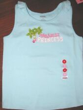 GYMBOREE Floral Reef Princess Top 5 7 8 New Blue Shirt Girls Summer tank tee