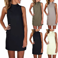 Womens Sleeveless Summer Shirts Dress Casual Long Top Beach Loose Party Sundress