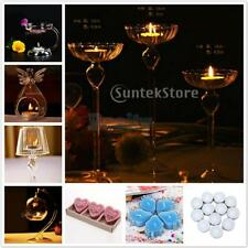 Glass Candle Holder Candlestick Tea Light Holder for Romantic Dinner Table Decor