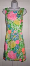 NWT LILLY PULITZER MULTI HIBISCUS STROLL CATHY SHIFT DRESS  12 14 16