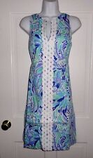 NWT LILLY PULITZER LILLYS LILAC NICE INK RYDER SHIFT DRESS 10 12