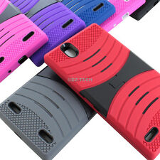 For ZTE Lever Z936L Rugged EXO Stretch Hybrid Hard Case Cover Accessory
