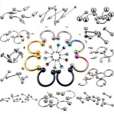 Wholesale Lots Stainless Steel Body Piercing Jewelry Ball Tongue Rings Barbell