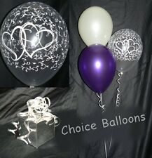 Romantic Balloons Entwined Hearts - 10 Table Decorations - Many Colours DIY Kit