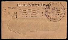 Malaya Singapore Dept of Broadcasting 1940s Official Stampless cover