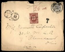 Austria to US 1894 Cover With 10 Cents Postage Due Train Late Backstamp
