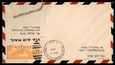 1936 Indianapolis Indiana RMS AMF airmail cover single franked
