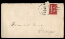US TEXAS JAN 21 1914 SINGLE FRANKED COVER TO CHICAGO IL
