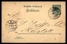 Karlsruhe Germany 1892 classic postal stationery card to Rastatt