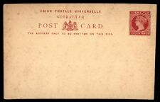Gibraltar 10 Cents QV Red Mint Classic Postal Stationery Card