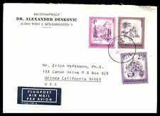 Wien Austria multi-franking cover airmail to Orinda California USA