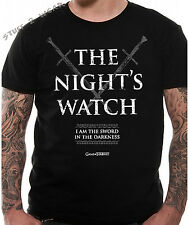 Game Of Thrones The Nights Watch T Shirt Black OFFICIAL New Small