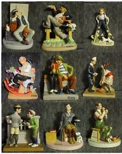 NORMAN ROCKWELL 1980 Danbury Mint from 12 Porcelain FIGURINES