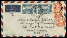Rangoon Burma airmail cover with agriculture issues 1958 to USA