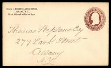 LENOX BANKS ALBANY NY 1880s US 2c BROWN STATIONERY ISSUE AD COVER TO ALBANY