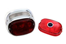 Chrome Oval Tail Lamp Assembly,for Harley Davidson motorcycles,by V-Twin