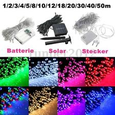 10-500 LED Electric/Solar/Battery Power String Fairy Light Lamp Xmas Party Decor