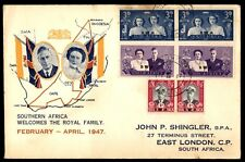 1947 February Southern Africa Royal cover to East London South Africa