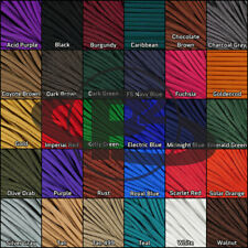 550 Paracord 10-100 Feet 4 mm Type III Parachute Outdoor Rope Cord Solid Colors