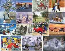 LARGE A3 PAINTING BY NUMBER KITS & PAINT & BRUSH 16 DESIGNS CHRISTMAS CRAFT GIFT