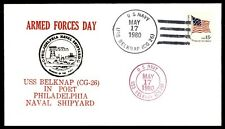 USS BELKNAP 1980 May 17 NAVAL COVER ARMED FORCES DAY