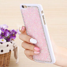 Luxury PC Glitter Bling Crystal Back Case Cover For Apple iPhone Samsung Galaxy