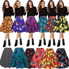 Women 1940 1950s Retro Full Circle Rockabilly Jive A Line Swing Midi Skirt Dress