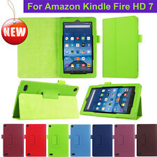 """Leather Case Folio case cover Stand For Amazon Kindle Fire HD 7"""" Tablet ereader"""