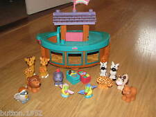 FISHER PRICE LITTLE PEOPLE NOAHS ARK, WITH ANIMALS