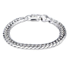 Felix Perry Men Chain Link Stainless Steel Silver Polished Bracelet 8.66 Inch
