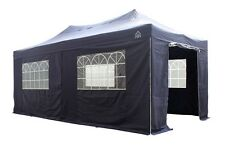 3x6m Heavy Duty Waterproof Premium Pop Up Gazebo Package + 4 Superior side walls
