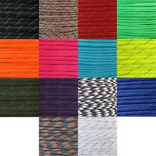 550 Type III 7 Strand Paracord Parachute Cord Reflective Line Reflecting Tracers