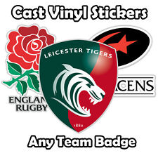 ANY Rugby Badge Sticker / Cast Vinyl / Decal / Car / Window / Laptop / Phone