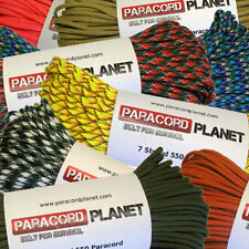 550 7 Strand Mil-Spec Multi-Colored Paracord - 10', 25', 50', 100'