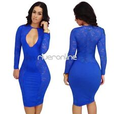 Women Sexy Cut Out Lace Tunic Bodycon Cocktail Evening Party Night Club Dress