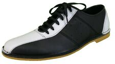 Delicious Junction Watts Black and White Leather Bowling Shoe