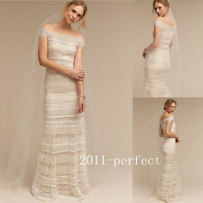 2017 Summer Beach Wedding Dresses Lace Embroidery Elegant A Line Bridal Gowns