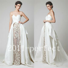 2017 Summer Sexy Evening Dresses Strapless Formal Prom White Dress Gowns New