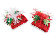 Mud Pie Baby CROCHET OSTRICH CHRISTMAS HAT 130285 Little Elves Collection