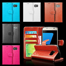 Flip Leather Card Wallet Pouch Stand Case +LCD Guard For Samsung Galaxy S7 G9300