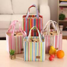 Portable Picnic Travel School Lunch Box Tote Cooler Bag Bento Pouch 5 Colors
