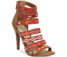 NIB Jessica Simpson Erienne Strappy Sandal Honey Brown Microsuede many size