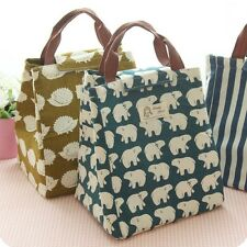 Children Kid Lunch Bag Insulated Cool Bag Carry Picnic Bag School Lunch Box Bag