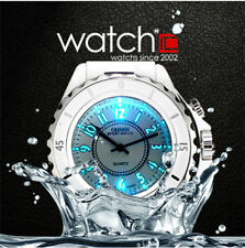 OHSEN Waterproof Mens Womens Sport Watch Lovers Quartz 7 Color LED Light Watches
