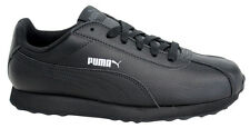 Puma Turin Synthetic Leather Trainers Mens Lace Up Shoes Black 360116 06 P0